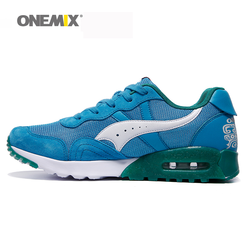 Onemix Men&Women Retro Running Shoes Black Outdoor Sneaker Sport Shoes Breathable Shoes Running Shoes Sneakers Free Shipping mulinsen men s running shoes blue black red gray outdoor running sport shoes breathable non slip sport sneakers 270235