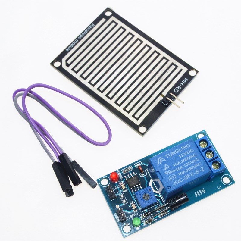 DC 12V Rain water sensor module + Relay Control Module for Arduino robot kitDC 12V Rain water sensor module + Relay Control Module for Arduino robot kit