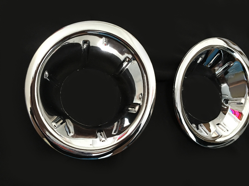 Chrome accessories for nissan navara brute chrome fog light cover for nissan frontier navara d40 2006-2012 2013 car styling part