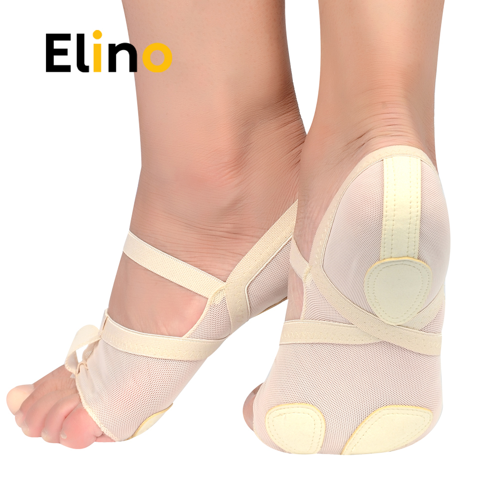Elino Woman Dance Toes Insoles Foot Thongs Insole Dance Ballet Dance Pad Protection Traning Paws Half Shoes Insoles Pads ...