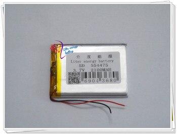 Fuente de la tableta PC batería de polímero de litio 554475PL/2100 mAh,...