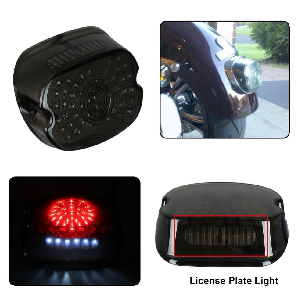 Good Motorcycle Led Brake Light Stop Tail Light For Harley Sportster 883 1200 Xl Touring Softail Dyna Electra Glide Taillight Online Discount Home