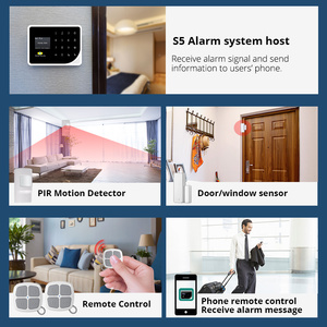Image 4 - Sécurité dorée russe espagnol anglais S5 WIFI GSM sécurité maison système dalarme GSM APP contrôle Kit dalarme