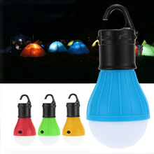 Outdoor Camping Lantern RGBY 800 Lumens LED Tent Night Light Bulbs Lamps Garden Moving Lights Emergency SOS Light AAA Battery