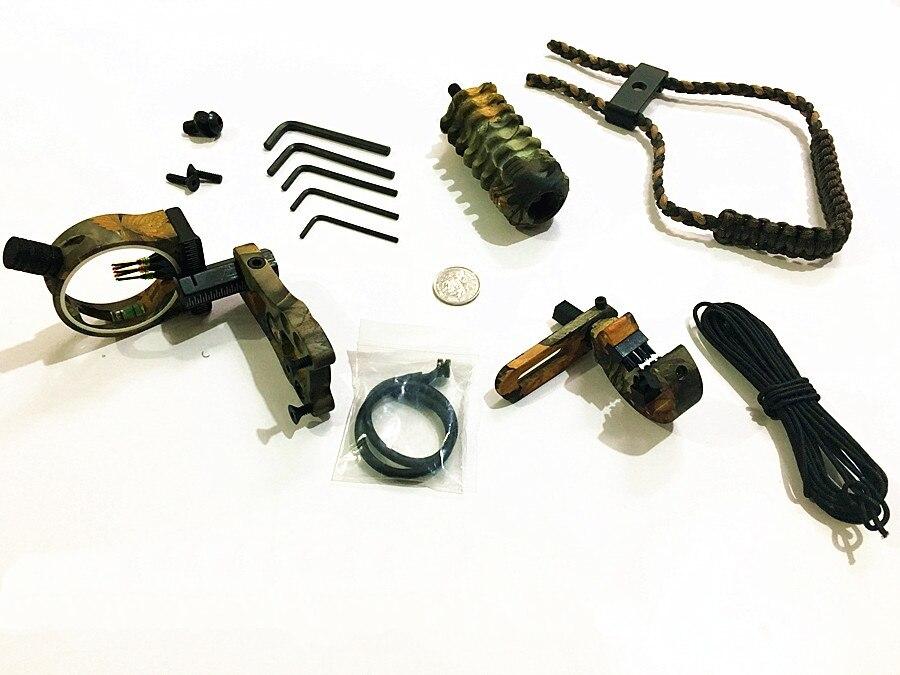 Nouveau 1 Set tir à l'arc composé arc classique accessoires arc vue, repose-flèche, stabilisateur en caoutchouc, Peep String, d-loop, poignet fronde chasse