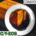 Câmera adaptador de lente af confirm c/y para contax yashica lente para câmera canon ef 5d 7d 550d adaptador com eletrônico acessórios