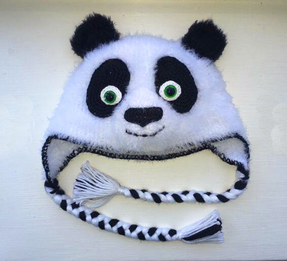 dc8937e2b7a Kung Fu Panda or Panda Bear crochet hat