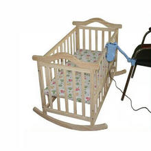 No Radiation Electric Rocking Baby Cradle, Baby Swing Pine Cribs, No Paint Safety adjustable swing, natural color baby bed