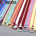 10Pcs Meetee 15-40cm 3# Closed end Resin zippers pull ring zipper head for Sewing Bag wallet garment accessories crafts