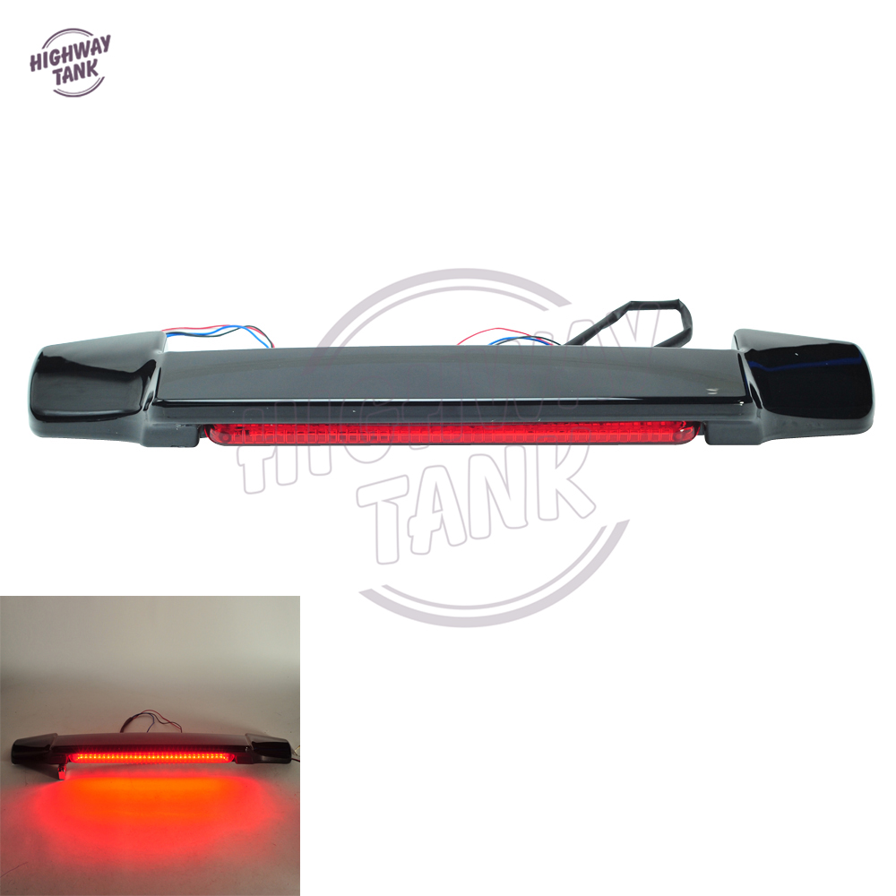 Red LED Tail Light Spoiler Motorcycle Rear Light case for Harley Touring Electra Glide Chopped King Tour Pak yandex w205 amg style carbon fiber rear spoiler for benz w205 c200 c250 c300 c350 4door 2015 2016 2017
