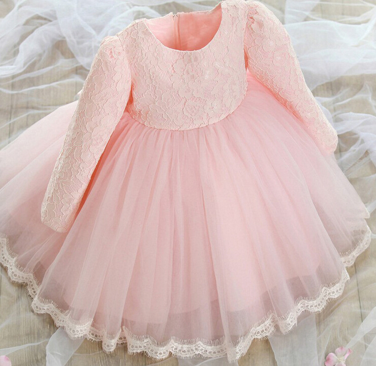 Girl wedding dress girls 2016 lace flower christening for Dresses for girls wedding