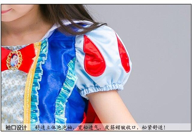 Disney Frozen dress for girls elsa costumes nest Girls Cosplay party Princess anna kids vestidos de festa meninas for children 5