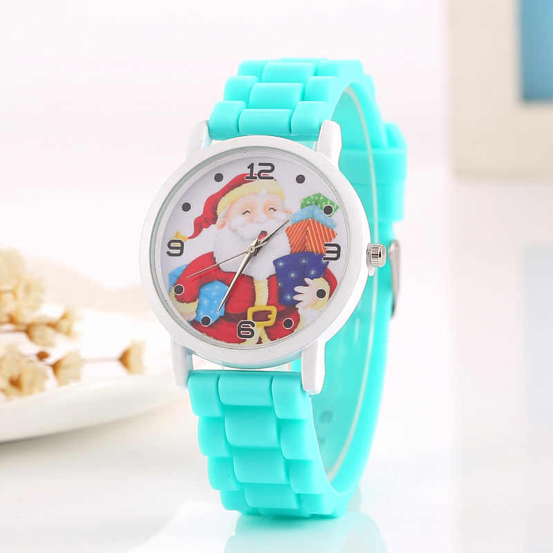 Модные рождественские часы Симпатичные Санта снеговик дизайн персонажей для девочек-подростков часы Женское платье Аналоговые кварцевые часы