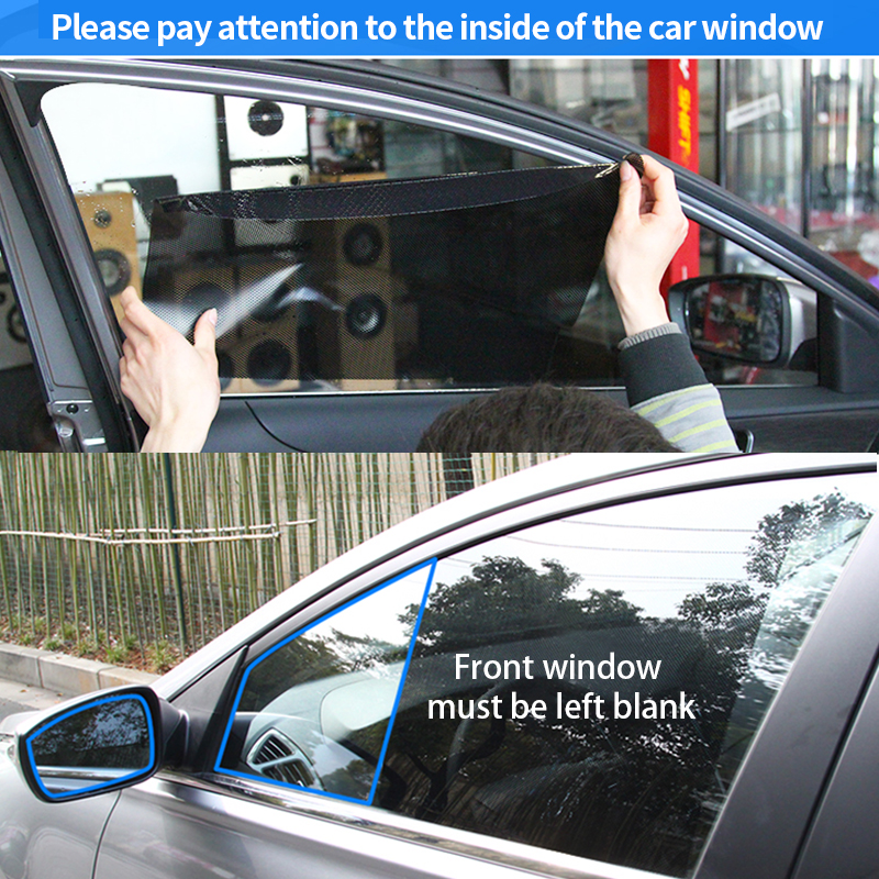 Image 4 - 2pcs Car Sunshades Window Cover PVC UV Protector Car Stickers windshield Sun Shade Shield Auto window Covers curtain Accessories-in Side Window Sunshades from Automobiles & Motorcycles