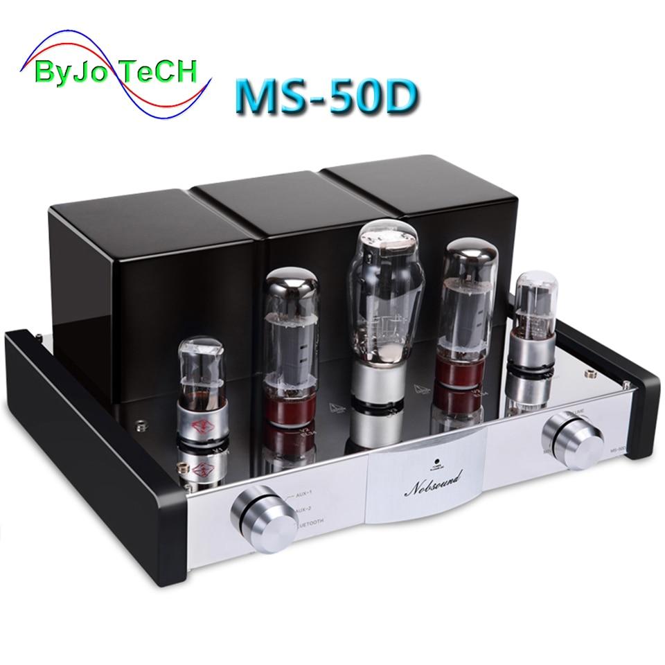 Amplificateur de Tube MS-50D Nobsound amplificateur HI-FI 2.1 canaux amplificateur de Tube sous vide amplificateur Bluetooth et MS-10D USB 30D mis à niveau
