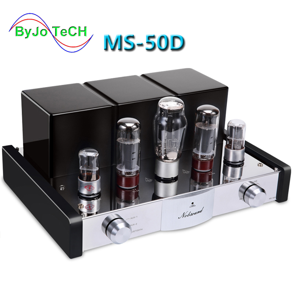 Nobsound MS-50D Tube Amplifier HI-FI Amplifier 2.1 Channels Amp Vaccum Tube AMP Bluetooth Amplifier and USB MS-10D 30D Upgraded цена 2017