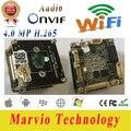 4MP H.265 IP CCTV Camera 4MP 2592*1520 wifi Módulo de Placas DIY Seu Próprio Sistema de Vigilância de Vídeo CCTV Segurança Onvif com áudio