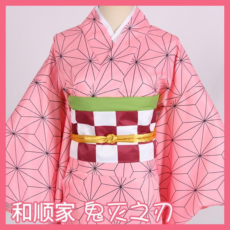 Лидер продаж; Новинка; аниме «Demon Slayer: Kimetsu no Yaiba»; Косплей; Kamado Nezuko; женская японская одежда; костюм для косплея
