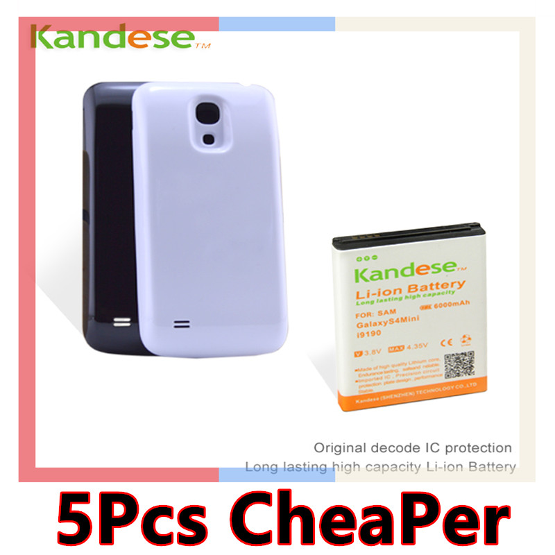 Extended Battery Bateria For Samsung Galaxy S4 Mini i9190 6000mah Original Kandese Decode IC Protection High