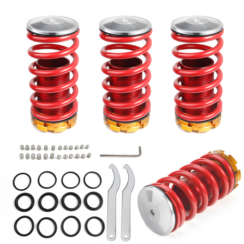 Ressorts à enroulement CNSPEED pour Honda Civic 88-00 rouge Kits à enroulement en aluminium disponibles YC100333-RD de Suspension à enroulement disponibles