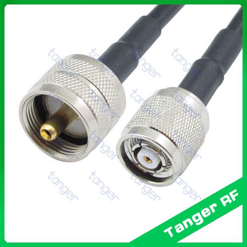 RP-TNC conector macho para UHF PL259 plugue macho reta quente RF Pigtail Jumper Cabo Coaxial RG58 40 polegadas de 100 cm com Alta qualidade