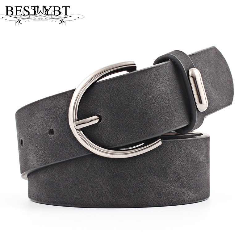 Best YBT Women Belt 2019 New Wide Suede Leather Waist Belt Female Casual Ladies Pin Buckle Belts For Women Dresses Belts