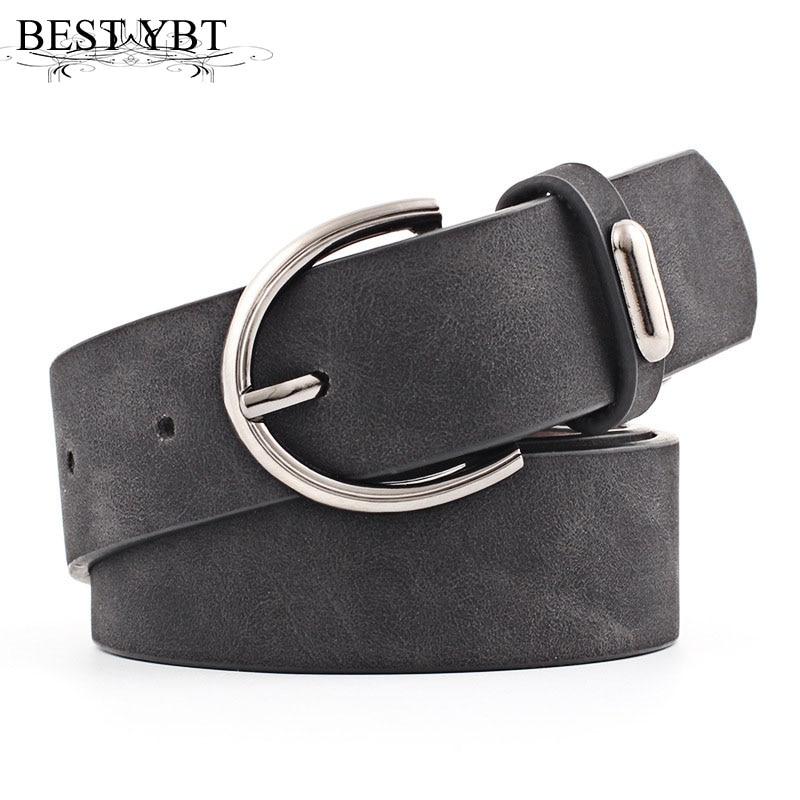 Best YBT Women Belt 2019 New Wide Suede Leather Waist Belt Female Casual Ladies Pin Buckle Belts For Women Dresses Belts