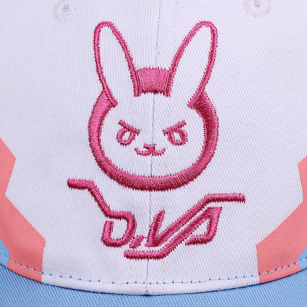 DVA Rabbit Ear Cute Baseball Cap Women Cartoon Printed Lady Hat Japanese Comic Hot Sale D.va Casual Fashion Cap Adjustable (4)