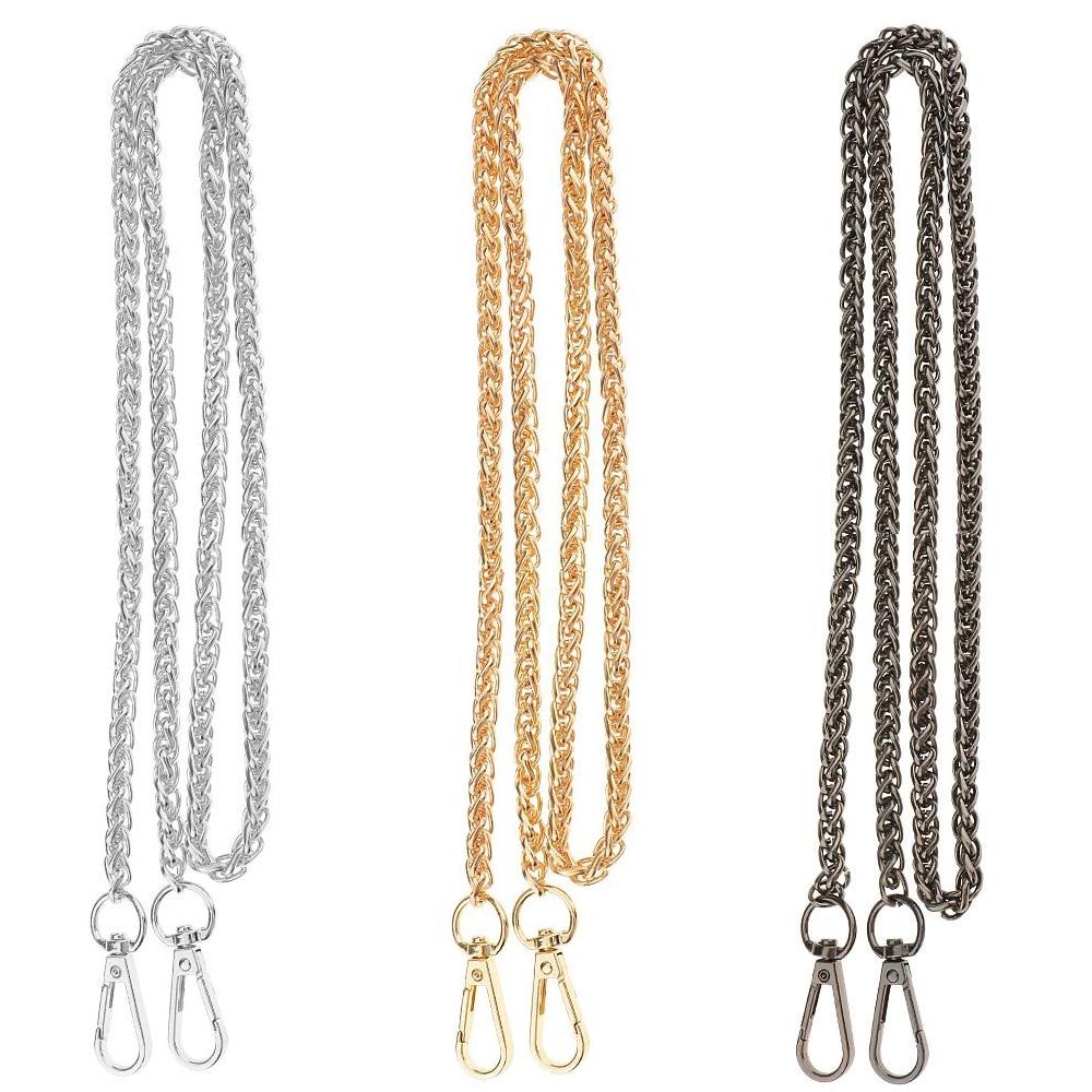 120cm Metal Straps For Bags Shoulder Handbag Chains Belt Hardware For Handbags Chain Strap Replacement Bag Accessories Parts GUN