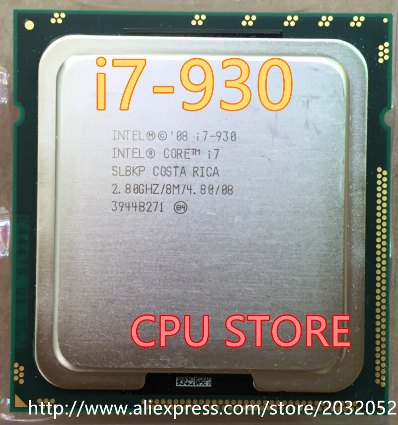 lntel Quad-Core I7-930 CPU Desktop Processor i7 930 8M Cache 2.8 GHz 4.80 GT/s QPI FCLGA1366 (working 100% Free Shipping)(China)