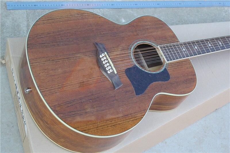 Livraison gratuite usine personnalisée nouvelles vraies photos haute qualité guitare acoustique-électrique, 12 cordes avec micros fishman 10yue k55e