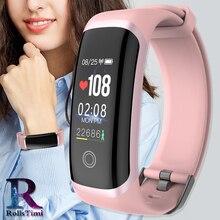 RollsTimi умные часы водонепроницаемый спортивный смарт-браслет для женщин фитнес-трекер кровяное давление мужские умные браслеты IOS Android
