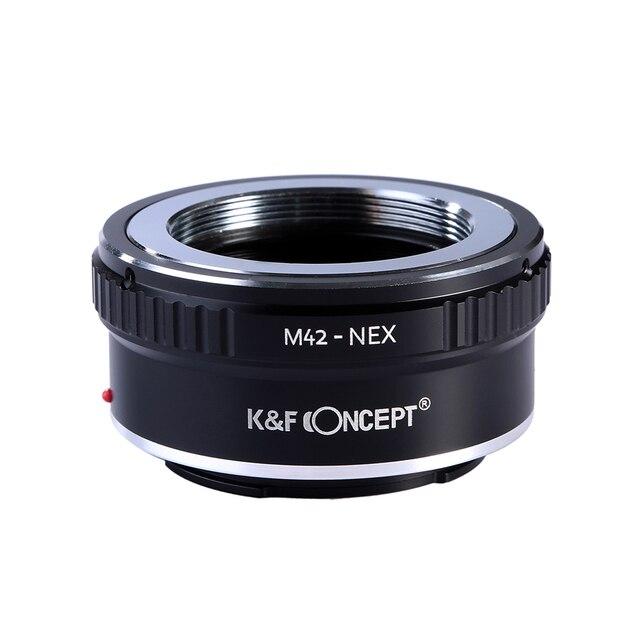 K & F CONCEPT M42-NEX M42 monture objectif pour Sony e-mount adaptateur anneau pour Sony NEX e-mount NEX3 NEX5n NEX5t A7 A6000 caméra