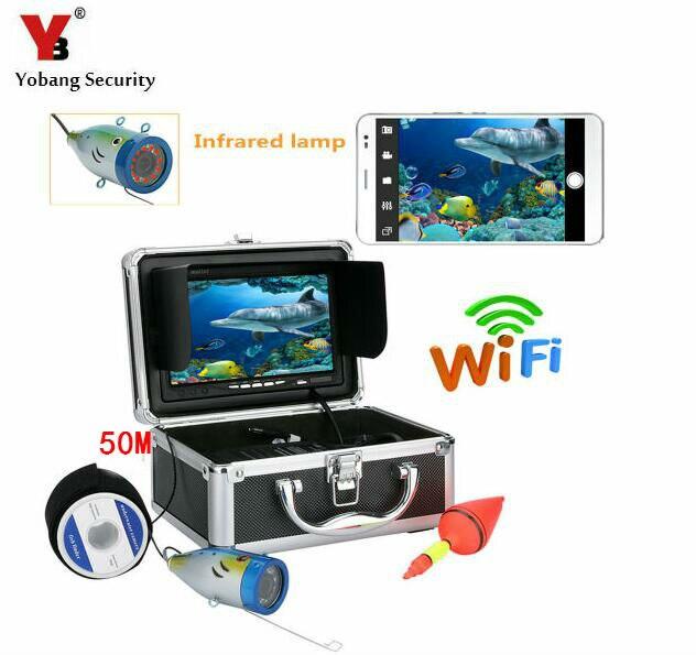 Yobang безопасности 7 50 м кабель Wi Fi приложение подводный Камера Рыболокаторы рыбы детектора 1000tvl Подводная охота Видео Камера комплект