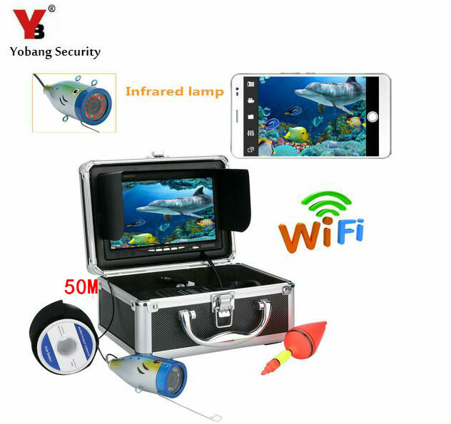 Yobang Security 750M Cable Wifi APP Underwater Camera Fish Finder Fish Detector 1000tvl Underwater Fishing Video Camera Kit