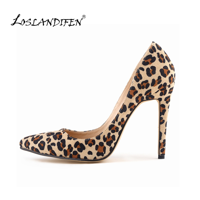 LOSLANDIFEN Classic Sexy Pointed Toe leopard print High Heels Women Pumps Brand Wedding Pumps Big Size 35-42   302-1Leopard lcl 920xl 10 pack ink cartridge compatible for hp officejet 6000 6500 6500 wireless 6500a 7000 7500 7500a