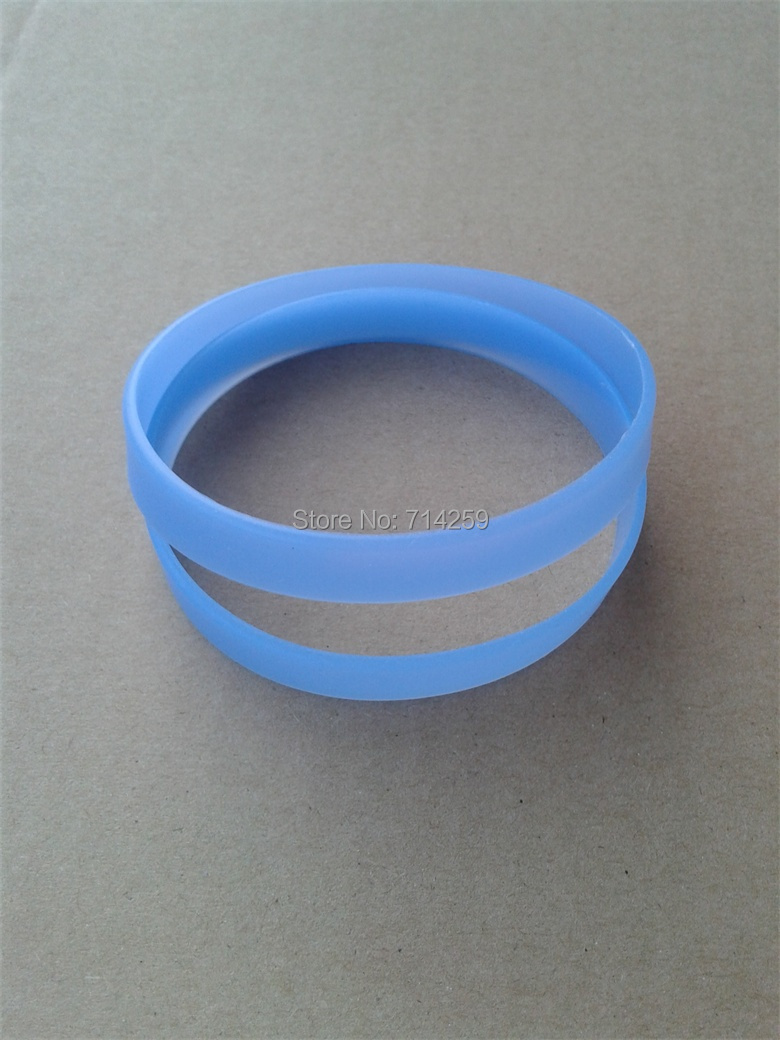 100pcs Custom Print Text&logo Blue Wristband Glow Green Rubber Silicone  Bracelets For Events P100603(china