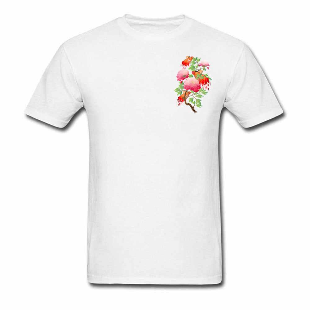 Мужская летняя футболка высокого качества Гавайский цветок золотое дерево Забавные футболки 100% хлопок короткий рукав модная футболка Прямая доставка