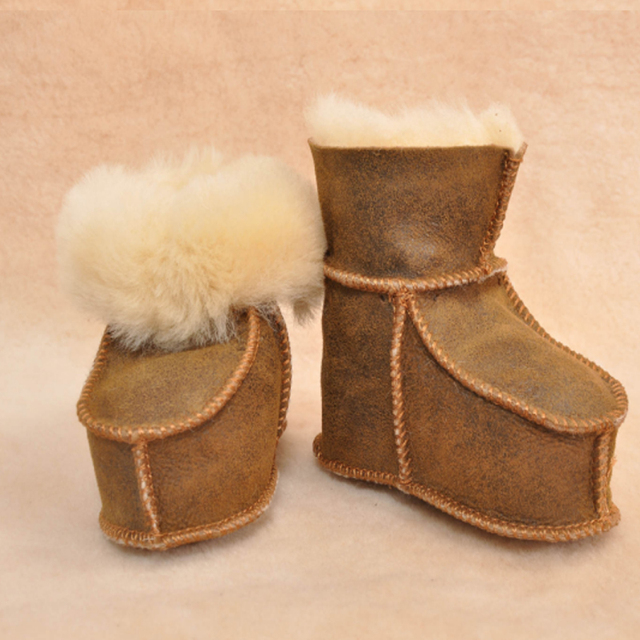 8da1be807 winter baby shoes boots infants warm shoes fur wool girls baby booties  Sheepskin Genuine Leather boy baby boots fur newborns