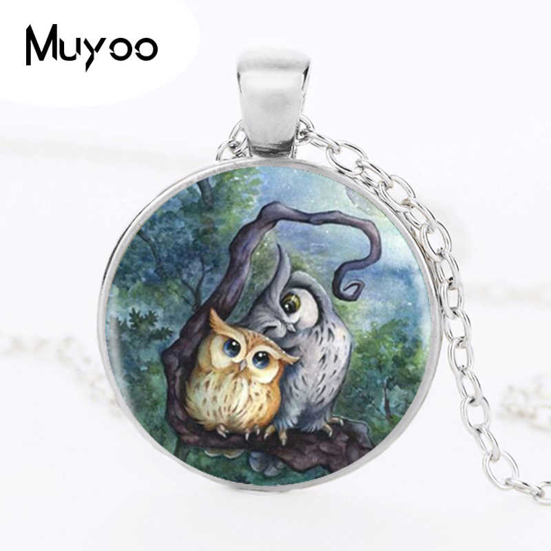 Lovely Owl Pendants & Necklace Silver Long Chain Necklace Jewelry For Women   HZ1