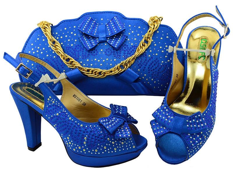 Scarpe Royal Blue Alti teal Borsa purple Italiane gold Stile Africano coral Borse red Tacchi Set E gq51zwv