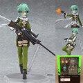 Anime espada arte online 2 Figma241 Sinon Asada Sao 2 acción PVC Figure Collection modelo juguetes Doll 15 cm envío gratis SA458