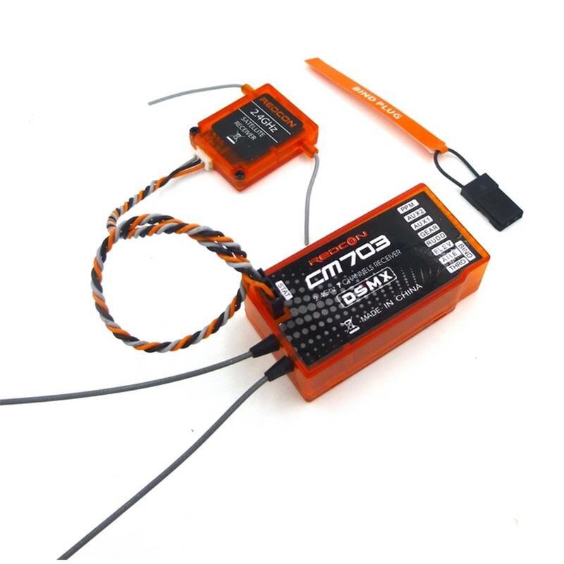 R//c Avion redcon//Spectre Compatable CM703 2.4GHZ 7CH Récepteur DSM2 DSMX nouveau