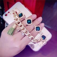 LOVECOM Best Gift Hot Luxury Gold Chain CZ Diamond Mirror Phone Case For iPhone 5 5S SE 6 6S 6Plus Phone Bags & Cases YC1638