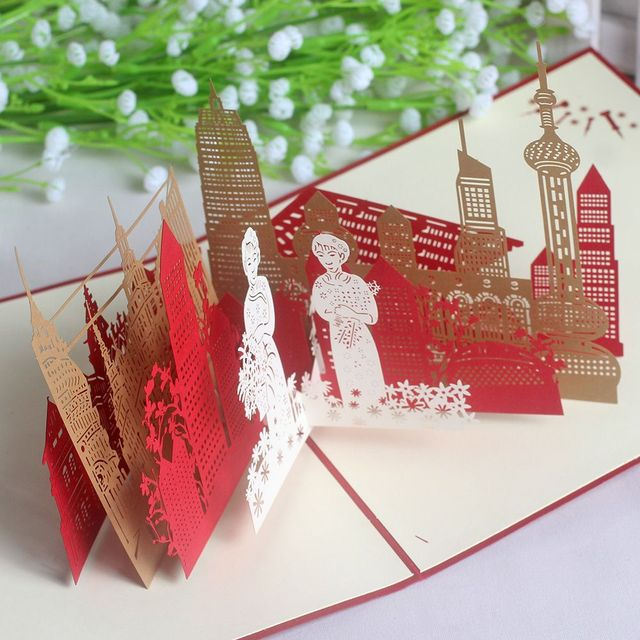 3d three dimensional greeting cards business city shanghai hangzhou 3d three dimensional greeting cards business city shanghai hangzhou theme birthday paper carving batch reheart Images