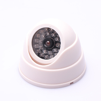 Hgh Quality ABS LED Simulation Fake Dummy Dome Camera Home Safely Security Surveillance Cameras White Hot