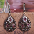 Blucome Top Quality New Arrival Turkish Jewelry Green Resin Drop Long Earrings For Woman Girls Wedding Max Brincos Aretes Bijoux
