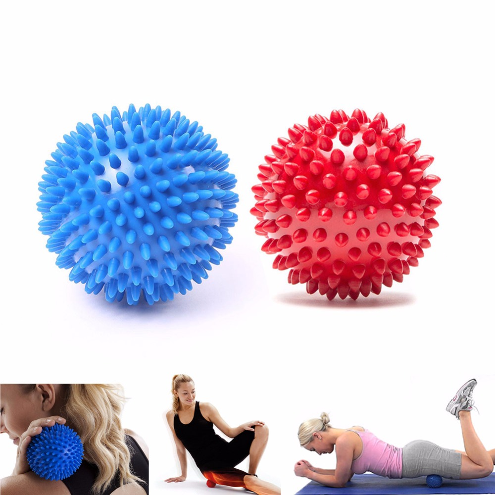 2 Pcs Trigger Point  Massager Ball Sport Fitness Hand Foot Back Shoulder Leg Pain Relief Spiky Massager Roller Balls For Lady F arm muscle fitness equipment electronic hand grips gyro power ball flash wrist ball