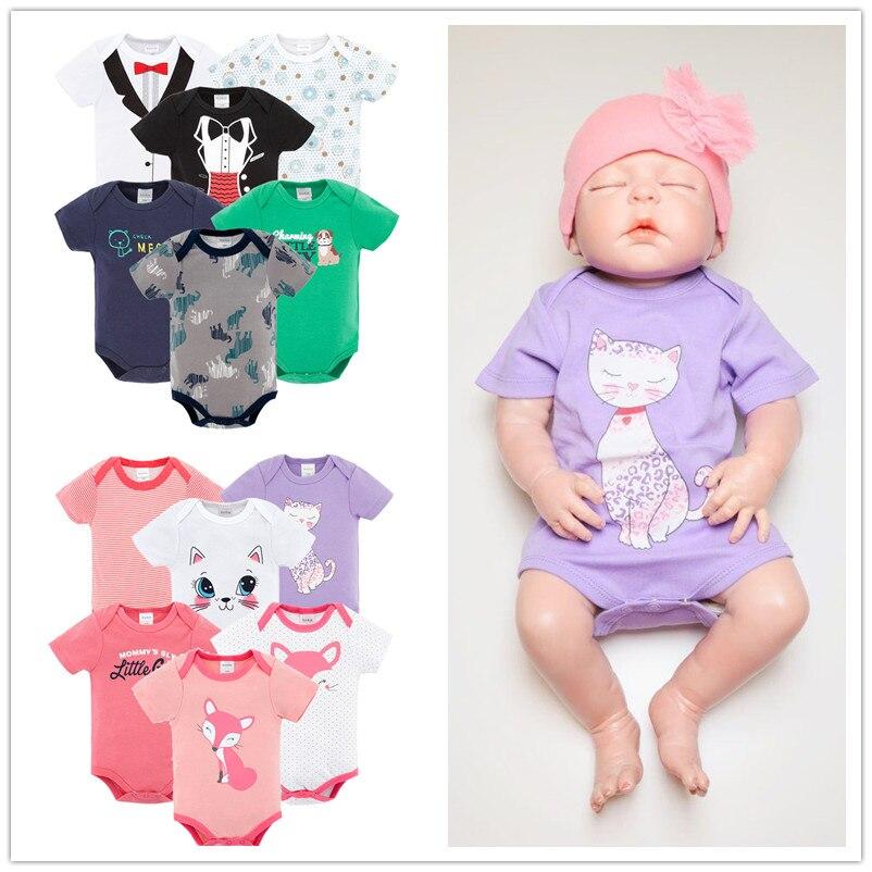 Kavkas New Fashion Baby clothes boy girl 6pcs/lot Short Sleeve Jumpsuit Newborn Body suit Baby Clothing roupas de bebe bodysuits