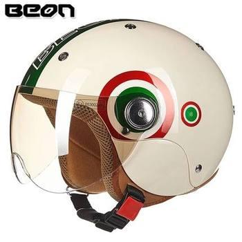 BEON Children/Adult ECE Helmet Headgear 52-54cm Cute Four Season Motorcycle Electric Helmet Children Boy Girl Half Helmet Summer
